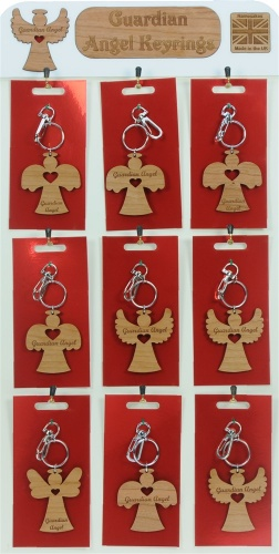 5001B-GA-W : Guardian Angel Keyrings UK (Pack Size 36) Price Breaks Available