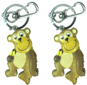 Keyrings - Monkey  (Pack Size 36)