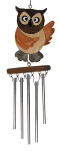 Wind Chimes (Medium) - Owl  (Pack Size 20)