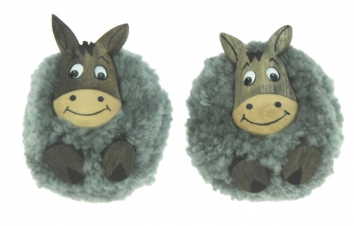5043P-DKY : Donkey Pom Pom Magnets (Pack Size 36) Price Breaks Available
