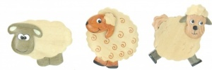 Magnets - Sheep  (Pack Size 50)