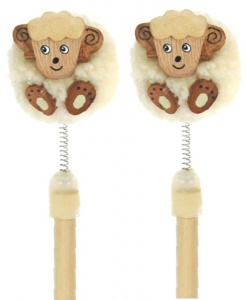 Pencils Pom Pom - Sheep  (Pack Size 25)