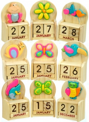 Calendars - Colourful - Mix Set  (Pack Size 20)