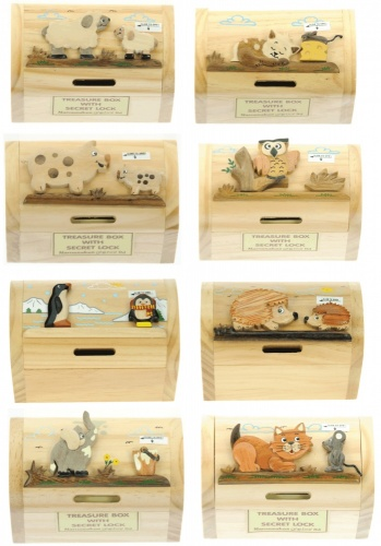 Money Box Treasure Chests - Mix Set  (Pack Size 10)