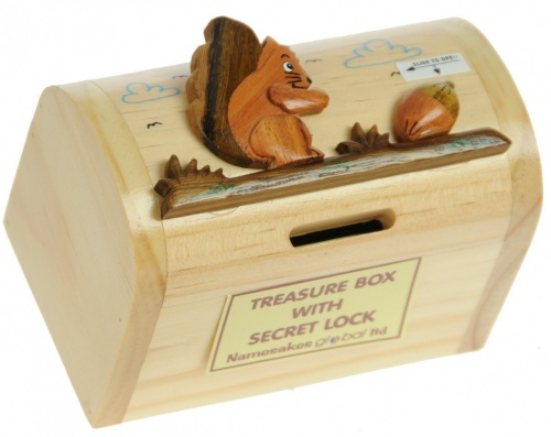 5215-SQ: Squirrel Money Boxes (Hidden Lock) (Pack Size 3) Price Breaks Available