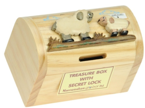 Money Box Treasure Chests - Sheep  (Pack Size 6) Price Breaks Available