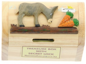 (AVAILABLE EARLY NOVEMBER) Money Box  Treasure Chests - Donkey  (Pack Size 10)