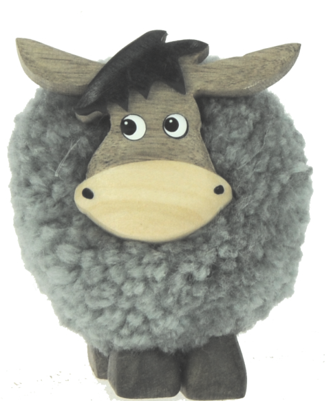 5501-DKY : Donkey Pom Pom Figurine (Pack Size 24) Price Breaks Available