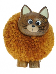 5501-CAT : Cat Pom Pom Figurine (Pack Size 24) Price Breaks Available