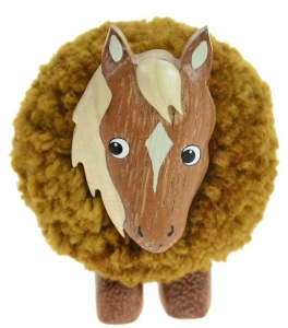 5501-HR : Horse Pom Pom Figurine (Pack Size 24) Price Breaks Available