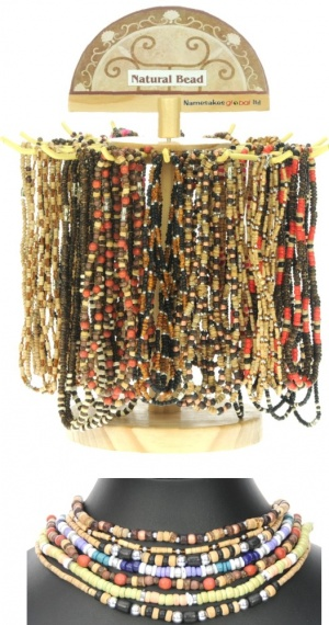 Necklaces - Natural Bead Range (Pack Size 100) 50% Discount