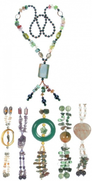 Necklace - Natural Stone  (Pack Size 50) - (70% OFF)