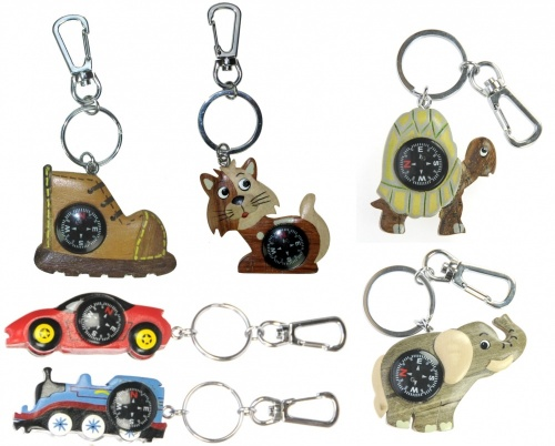 Keyrings - Compass  - 8+ Designs (Pack Size 60)