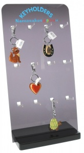 Keyring Display - Black Perspex