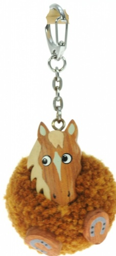 5001P-HR : Horse Pom Keyrings (Pack Size 36) Price Breaks Available