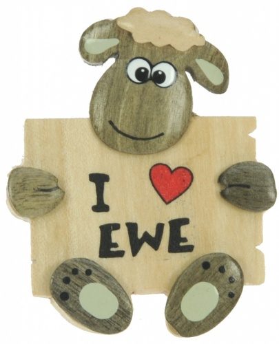 5043SDY-LV: I Love Ewe Magnets -  (Pack Size 36) Price Breaks Available