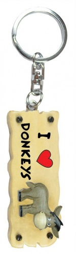 5001-DKY-LV : Donkey Keyrings  (Pack Size 36) Price Breaks Available