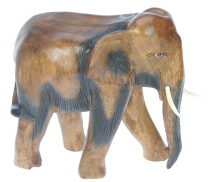 YO53 - Hand Carved Elephant (Large)  (Pack Size 3)