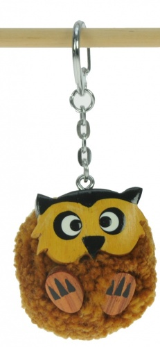 5001P-OWL : Owl Pom Keyrings (Pack Size 36) Price Breaks Available