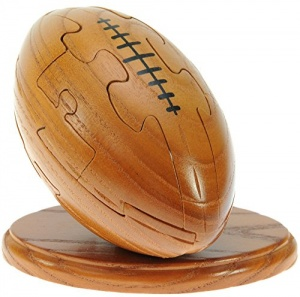3-D Wooden Puzzle - Rugby Ball   (Pack Size 3)