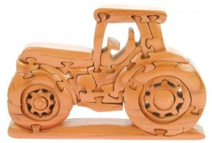 3-D Wooden Puzzle - Tractor (Pack Size 3)