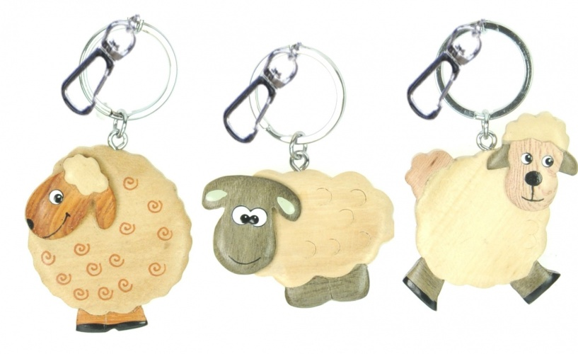 5001-SH: Keyrings - Sheep - 3 Designs (Pack Size 36) Price Breaks Available