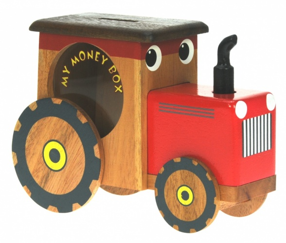 501-TR: Tractor Money Box (Hidden Lock) (Pack Size 6) Price Breaks Available