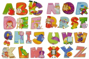 Wall Stickers - ABC Alphabet (Objects)  (Pack Size 24) - (50% OFF)