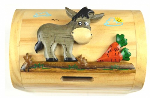 (AVAILABLE JUNE) Money Box  Treasure Chests - Donkey  (Pack Size 10)