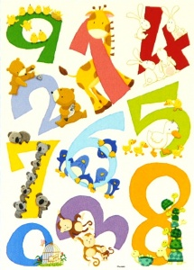 H16 -  Wall Stickers - 123 Number  (Pack Size 12)