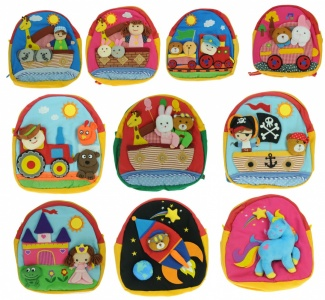 Mixed Set Offer - Children Rucksacks 10 Designs  (Pack Size 40) Mixed Sets