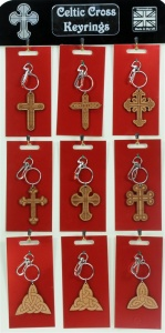 5001B-CC-W : Celtic Cross Keyrings UK (Pack Size 36) Price Breaks Available