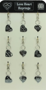 5001B-HRT-M : Love Heart Mirror Keyrings UK (Pack Size 36) Price Breaks Available