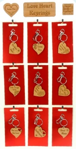 5001B-HRT-W : Love Heart Keyrings UK (Pack Size 36) Price Breaks Available