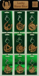 5001B-HS-W : Lucky Horseshoe Keyrings UK (Pack Size 36) Price Breaks Available