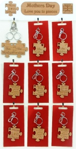 5001B-JS-W : Love You To Pieces Jigsaw Keyrings UK (Pack Size 36) Price Breaks Available