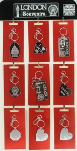 5001B-LND-M : London Mirror Keyrings UK (Pack Size 36) Price Breaks Available