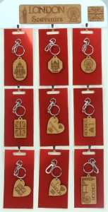 5001B-LND-W : London Keyrings UK (Pack Size 36) Price Breaks Available