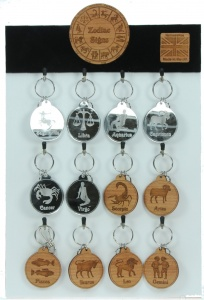 5001B-SS: Zodiac Start Sign Keyrings UK (Pack Size 36) Price Breaks Available