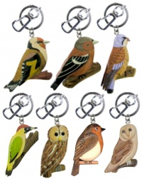 5001GB : Garden Bird Keyrings (Pack Size 36) AVAILABLE MAY