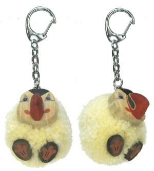 5001P-PFN : Puffin Pom Keyrings (Pack Size 36) Price Breaks Available