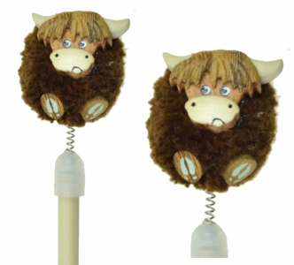 5004P-HC Pencils Pom Pom - Highland Cows  (Pack Size 36)