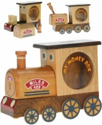 (AVAILABLE EARLY NOVEMBER) Money Box - Train (Hidden Lock)  (Pack Size 6)