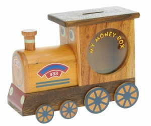 501MB: Steam Train Money Box (Hidden Lock) (Pack Size 6) Price Breaks Available