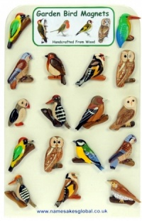 5043GB : Garden Bird Magnets - Wooden (Pack Size 36) Price Breaks Available