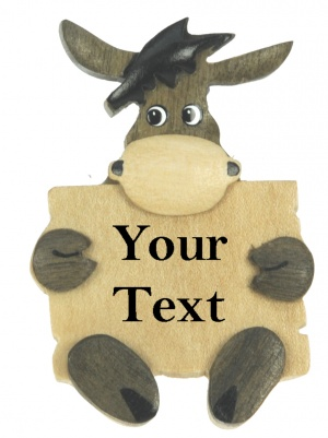5043SDY-LV:  Donkey Magnets - Your Text (Pack Size 48) Price Breaks Available