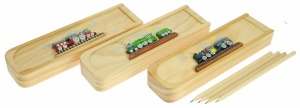Pencil Cases (& Coloured Pencils) - Trains (Pack Size 15)