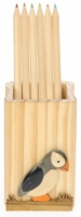 5202PF: Pencil Holder with Coloured Pencils - Puffin - (Pack Size 10)