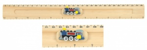 5206-TR : Steam Train Ruler (Sliding Character Measure) (Pack Size 20) Price Breaks Available
