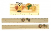 Ruler (Sliding Character Measure) - Owl  (Pack Size 24) Price Breaks Available